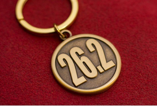 26.2 Marathon Finisher Keychain