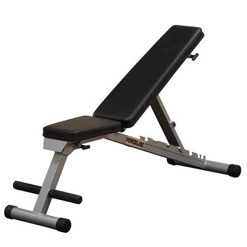 Body-Solid Powerline Flat Incline Decline Folding Bench